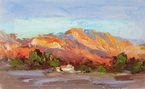 Colorful Southwest Landscape Mountains Desert By Tom Brown Original Art Painting By Tom Brown Dailypainters Com With Images Southwest Painting Southwest Art Paintings