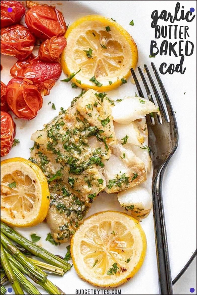 This Rich And Zesty Garlic Butter Baked Cod Is A Fast And Flavorful Weeknight Dinner That Can Be Made In Under 30 Minutes, Using Basic Pantry Staples. #Fish #Garlicbutter