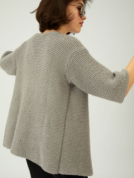 Photo of Free instructions: Cardigan frizzy right with three-quarter sleeves – initiative handmade