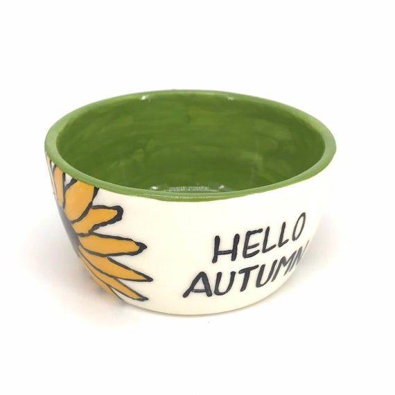NEW! sunflower little bowl, teacher gifts, snack dish, hello autumn, dip bowls, mothers day, flower #helloautumn
