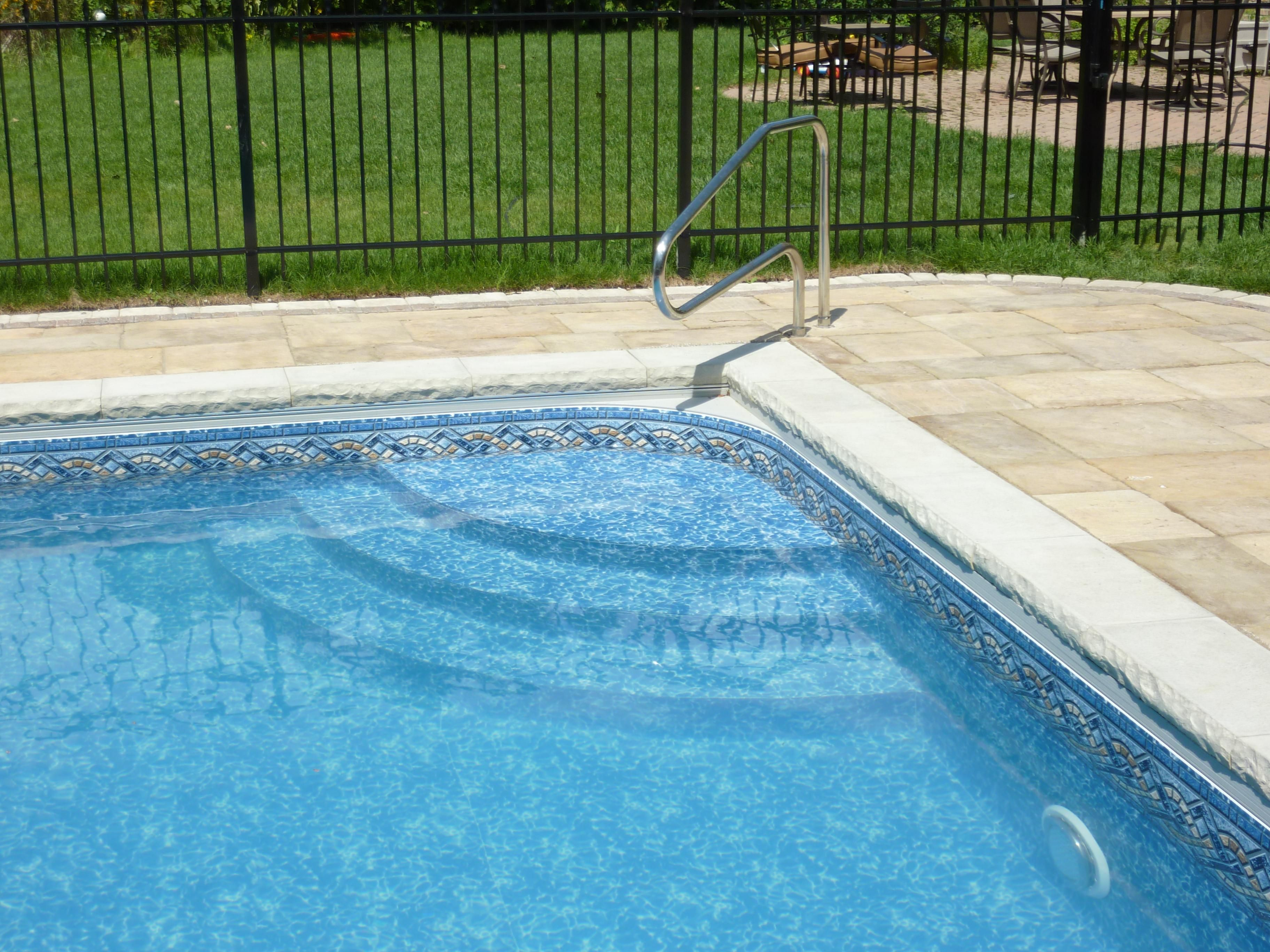 rectangle pools with 10' corner step Google Search