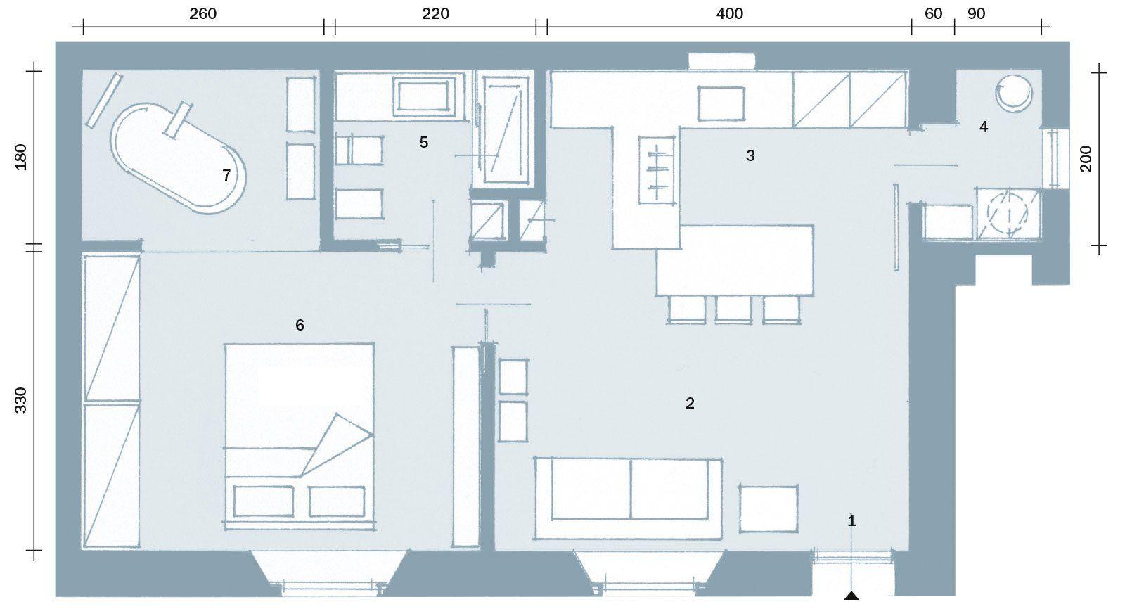 Planimetria Casa Con Misure 50 mq: obiettivo massimo comfort | planimetrie di case