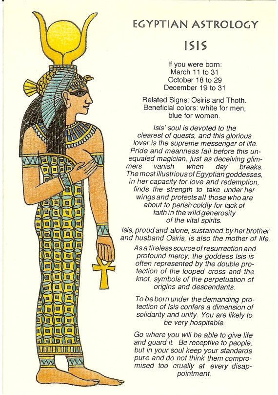 Zodiac unlimited egyptian astrology postcard isis also egyption rh pinterest