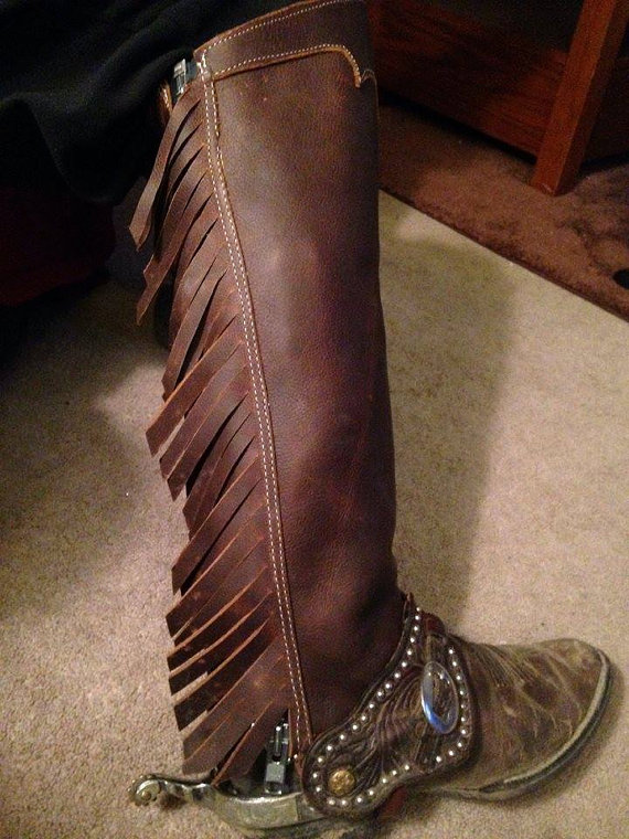 0d62b259b97 Leather Chinks Half Chaps, half chaps, western chaps, grouse hunting ...