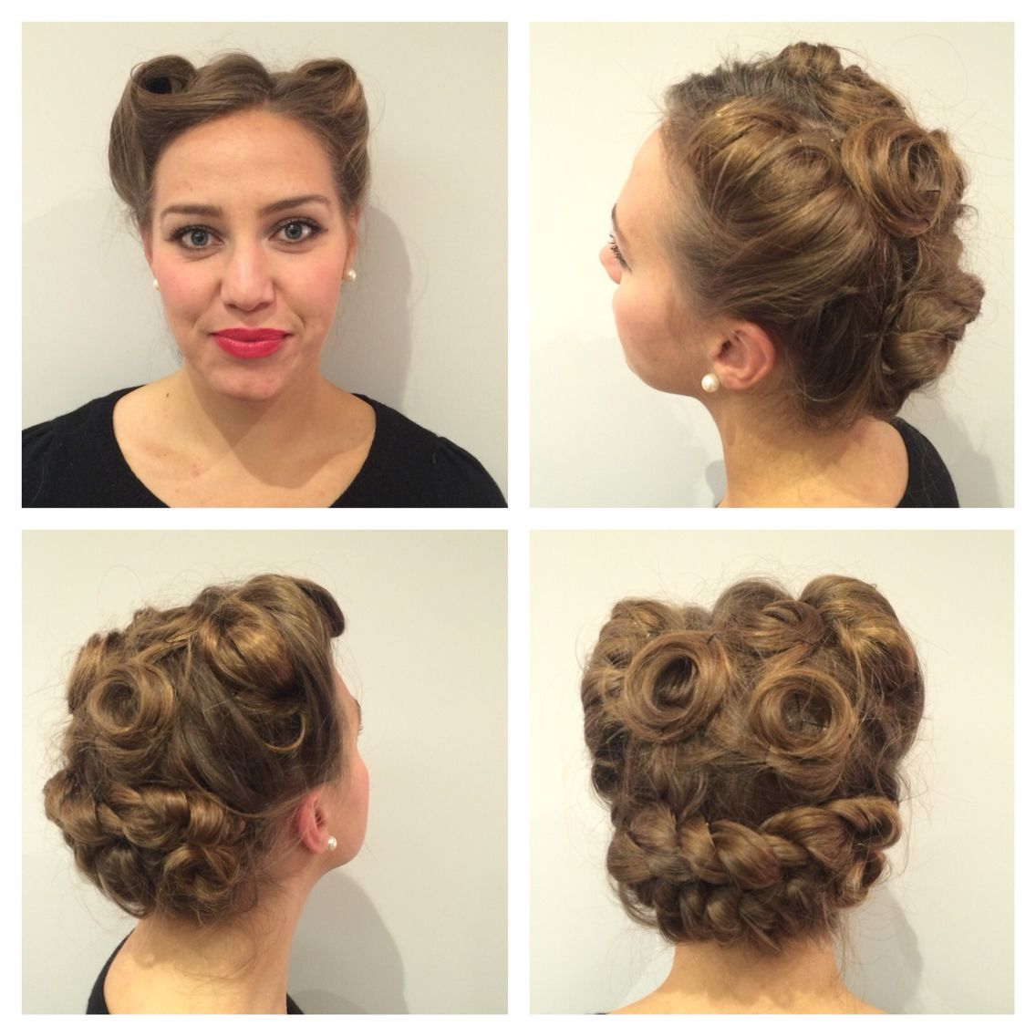 1940s Updo Pinupsbridalhair Pin Ups Hairstyles