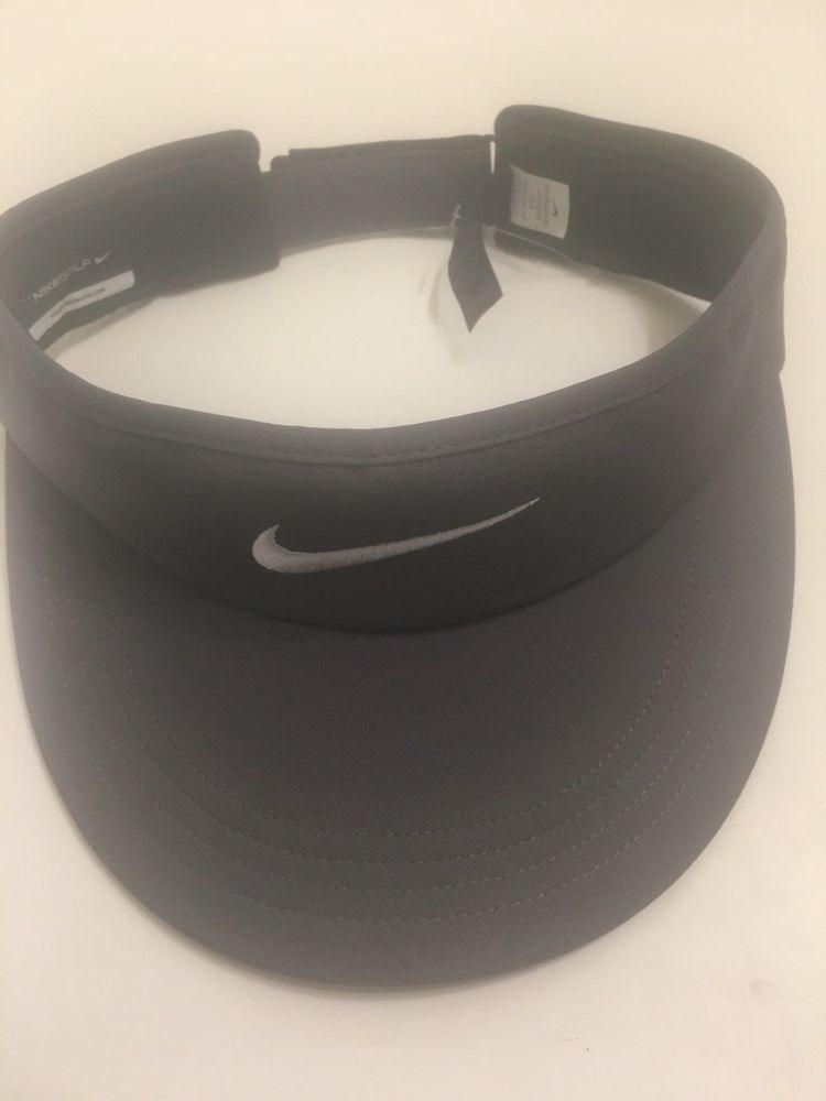 New nike golf tall adjustable visor graywhite 832693021