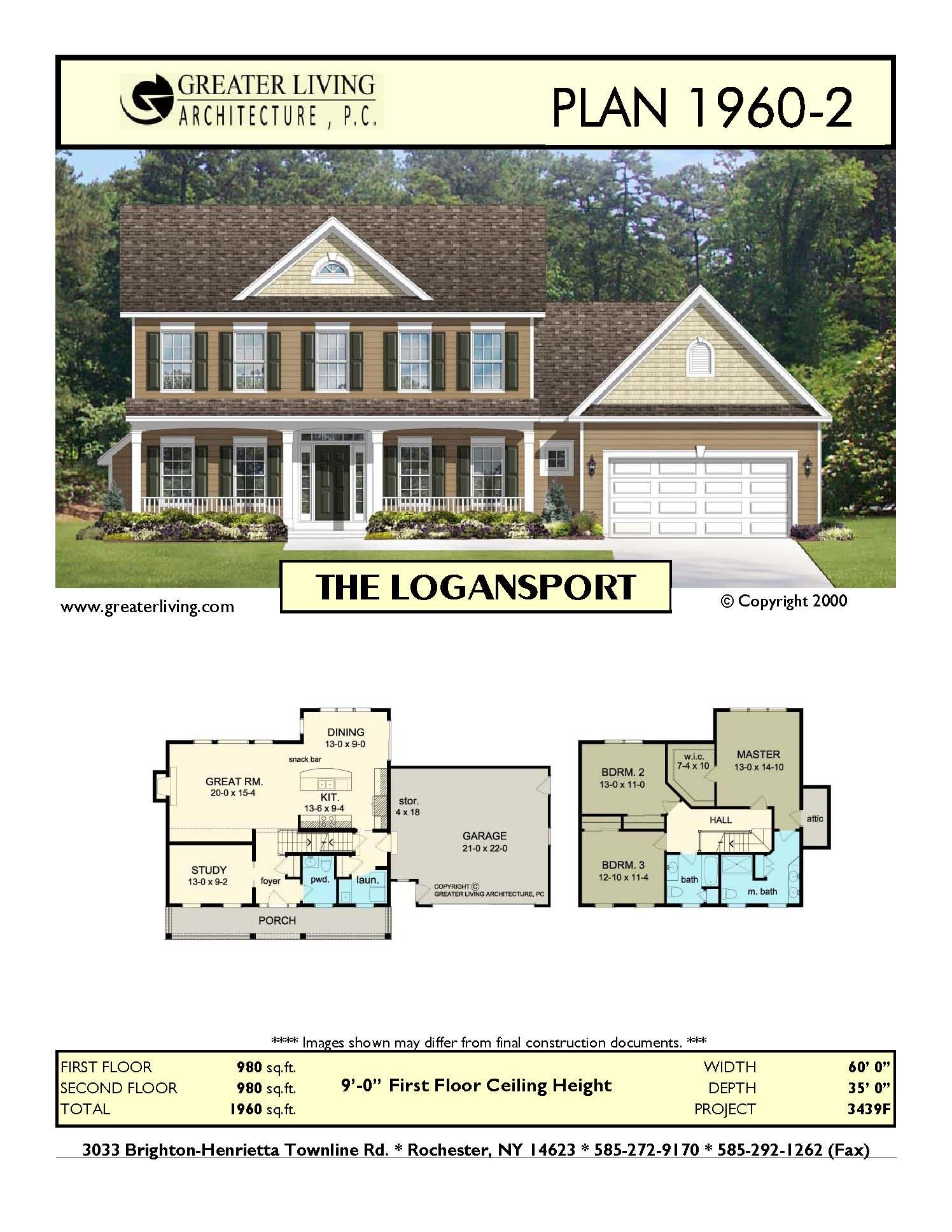 Plan 1960-2: THE LOGANSPORT | floor plans and layout / home design ...