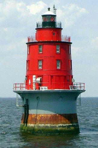 Miah Maull Shoal Lighthouse  Delaware Bay, New Jersey: