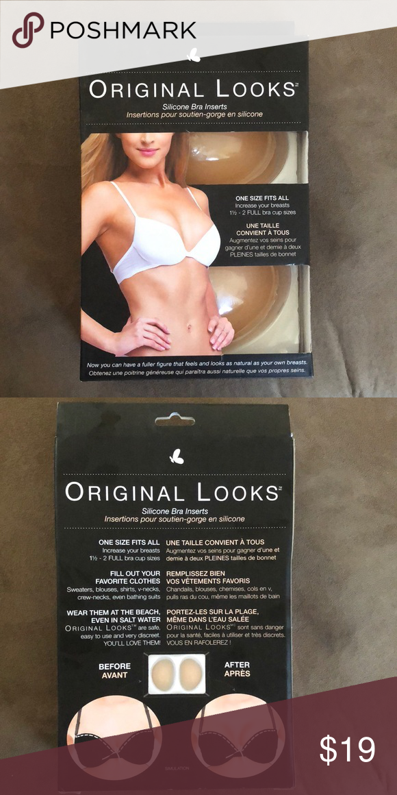 1e8e8b2a79 Original Looks silicone bra inserts Brand new! One size fits all. Increases  your breasts 1 1 2 - 2 full bra cup sizes. original looks Other