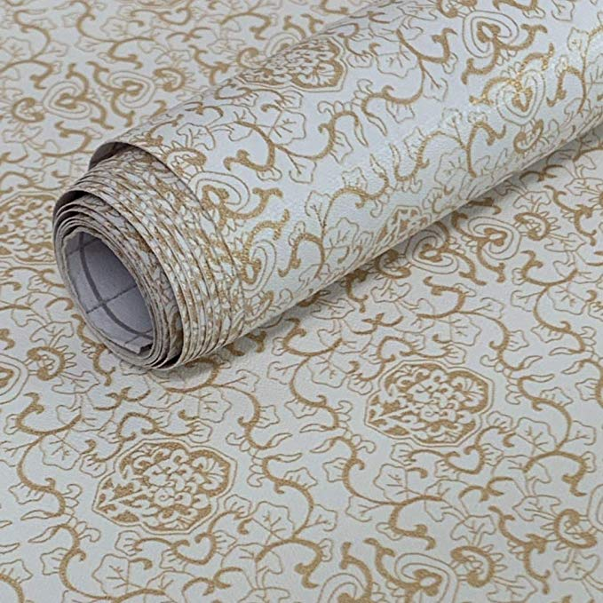 Removable Wallpaper Peel And Stick Self Adhesive Shelf Liner Damask Contact Paper Decorative Floral R Damask Removable Wallpaper Damask Wall Floral Wall Decals