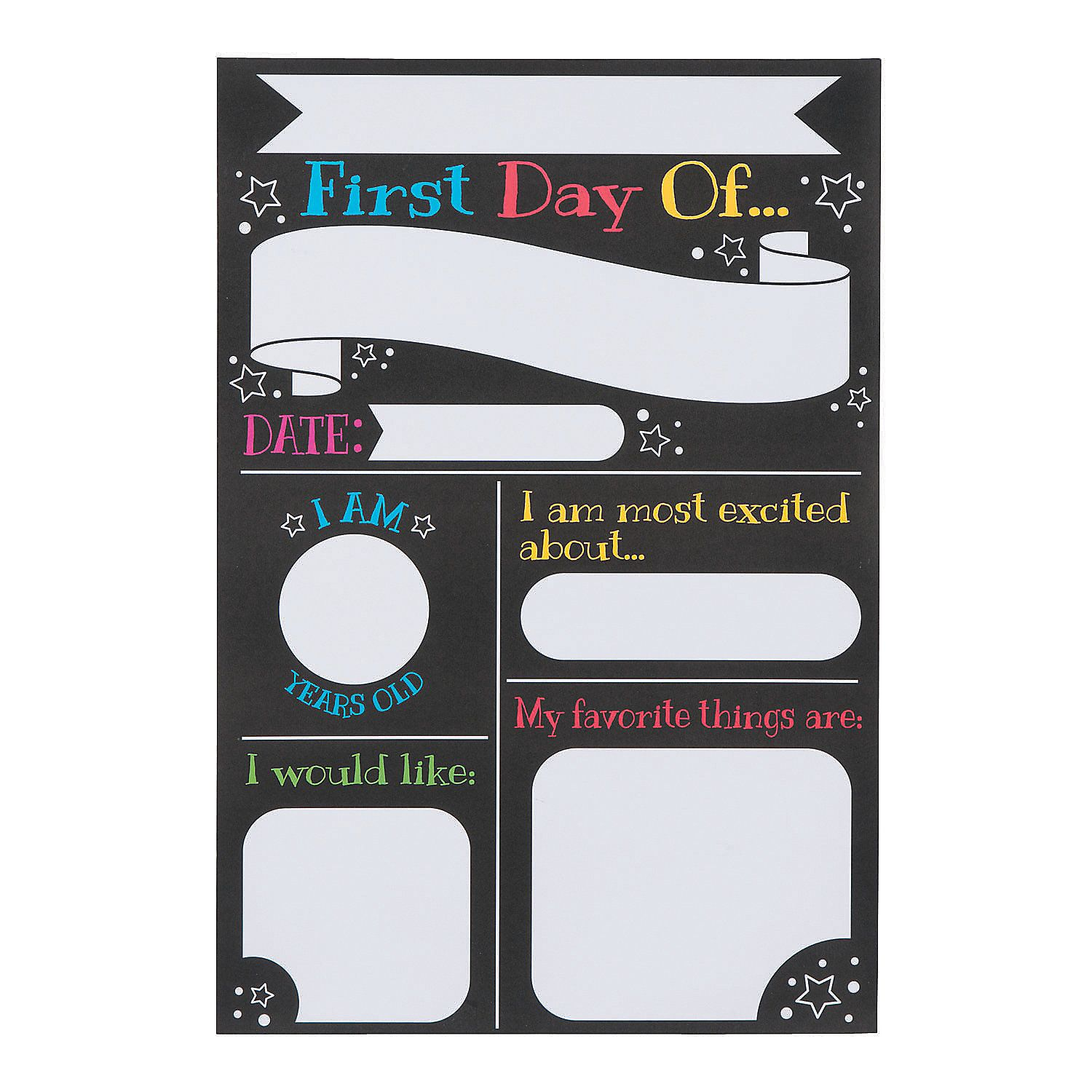 All About My First Day Of School Poster