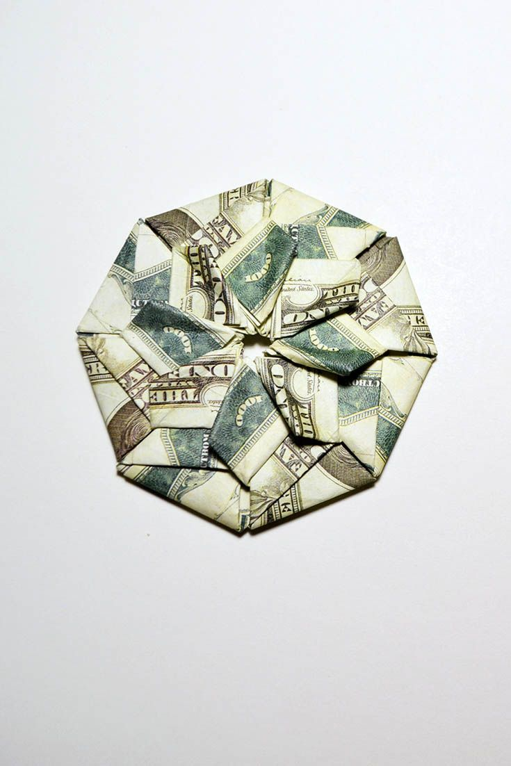 Money Craft Origami Mandala Dollar Modules Tutorial Diy Folded No