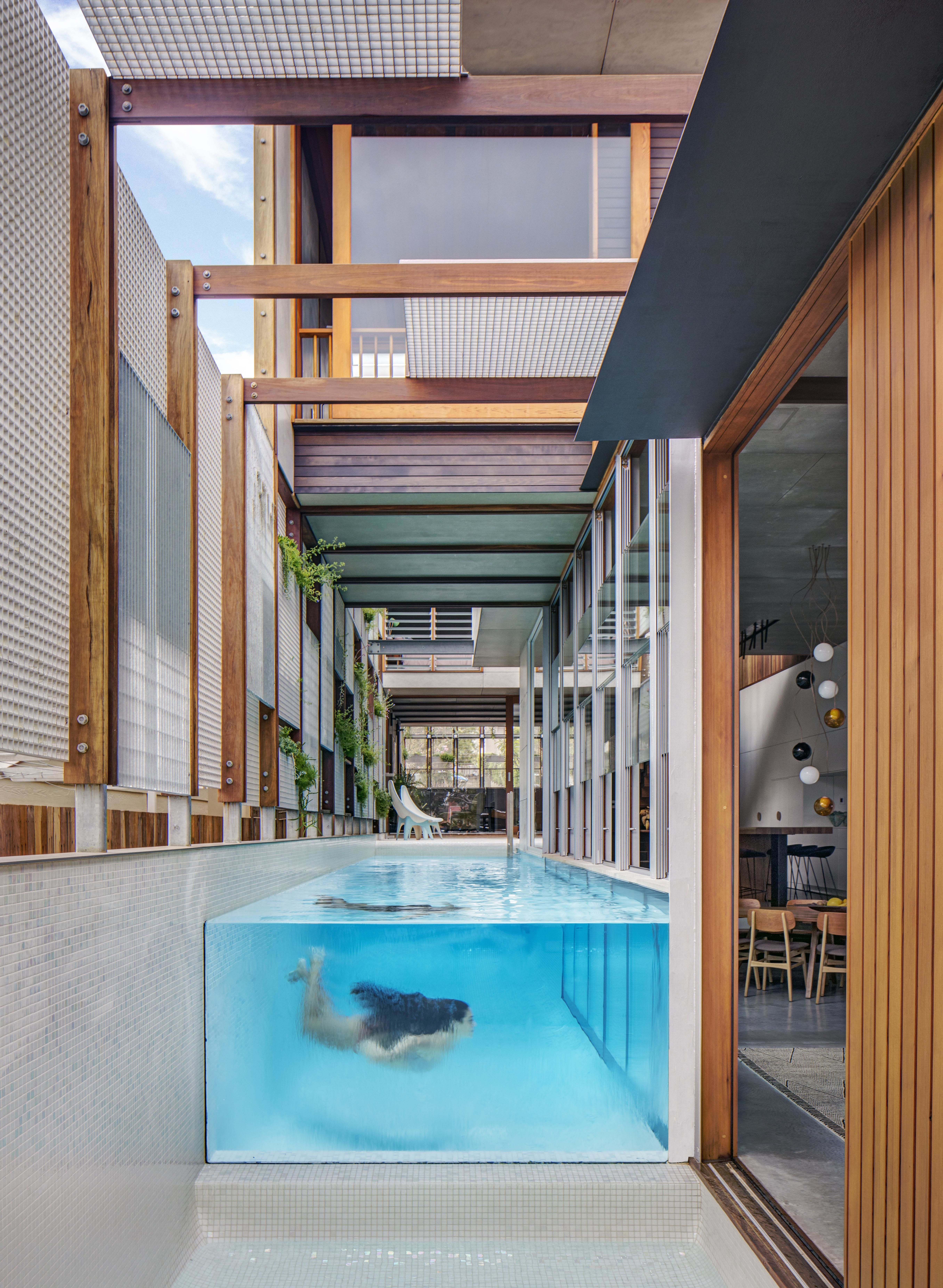 Delightful Living Screens Conceal A North Bondi Beach House And A Semi Indoor Pool