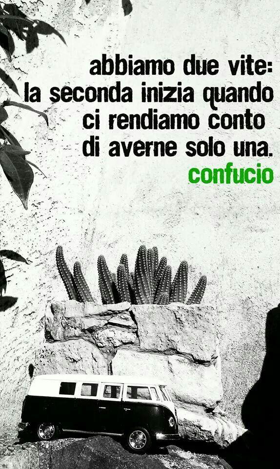 Abbiamo due vite: la seconda inizia quando ci rendiamo conto di averne solo una - #Confucio