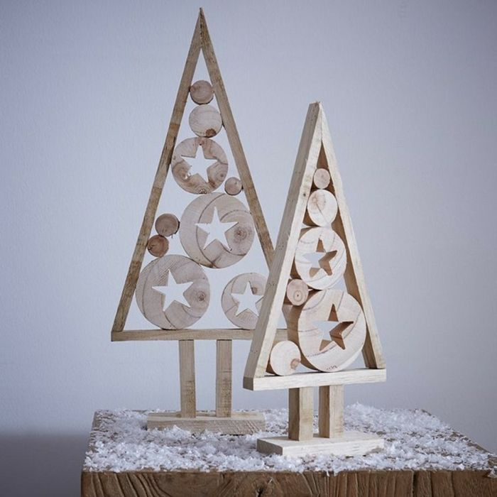 Weihnachtsdekoration Ideen Christbaum Diy Holz Weihnachtsbäume