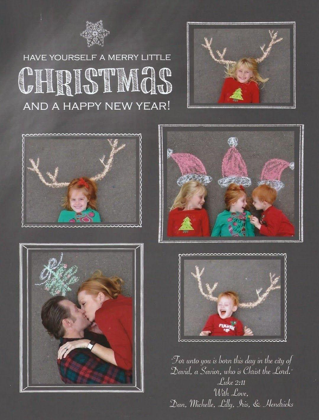 merry christmas photo christmas card sidewalk chalk. Black Bedroom Furniture Sets. Home Design Ideas