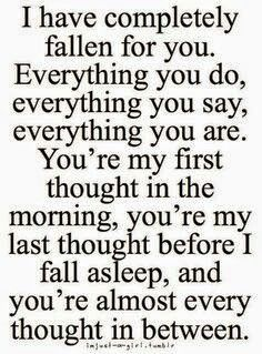 I Fell For You A Long Time Ago I Hope You Know How Much You Mean To Me And How Much I Think About You 143 Love Quotes For Her Quotes