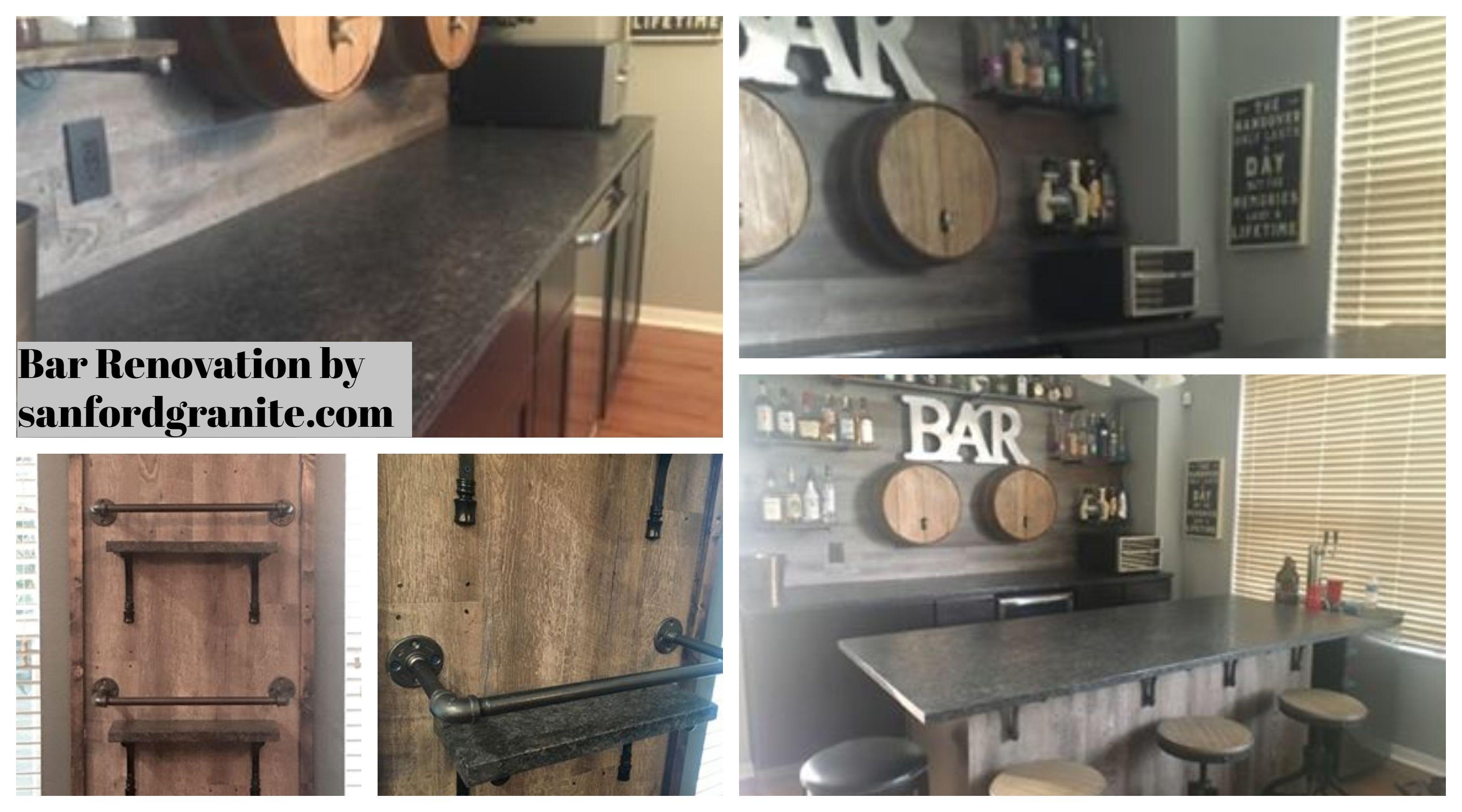 Amazing Bar Renovation Bar Renovation Granite Countertops Countertops
