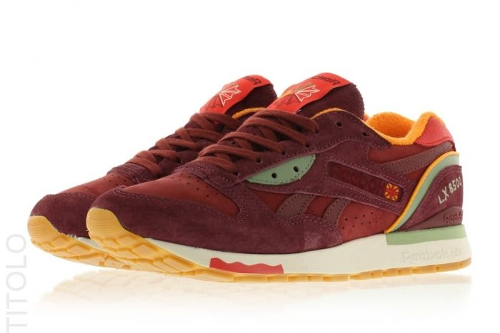 92bcc2e530a Packer Shoes x Reebok LX 8500 M47405 Maroon Red Green Titolo