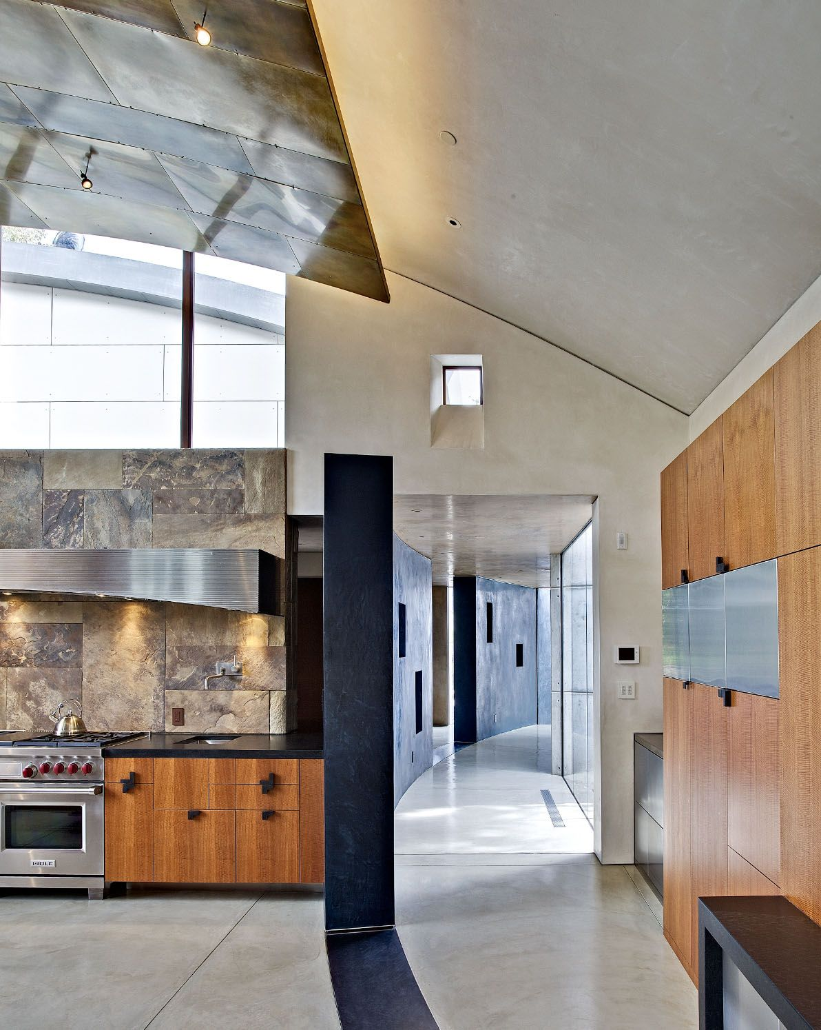 Kitchen And Light Soffit Contemporary Saratoga Home