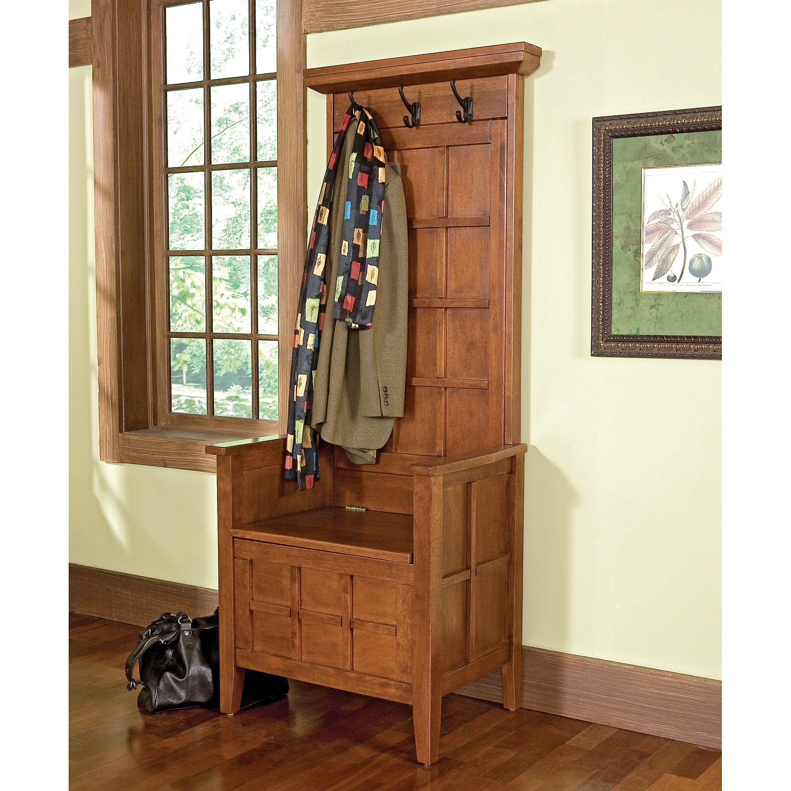 Solid Wood Hall Tree Ideas On Foter In 2021 Oak Storage Bench Hall Tree Storage Bench Indoor Storage Bench