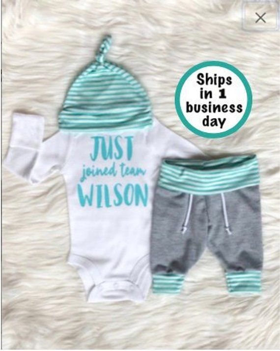 5f5de27c9 BABY BOY Coming Home Outfit/baby boy/personalized/jogger/baby hat/baby  shower gift/winter/baby boy g