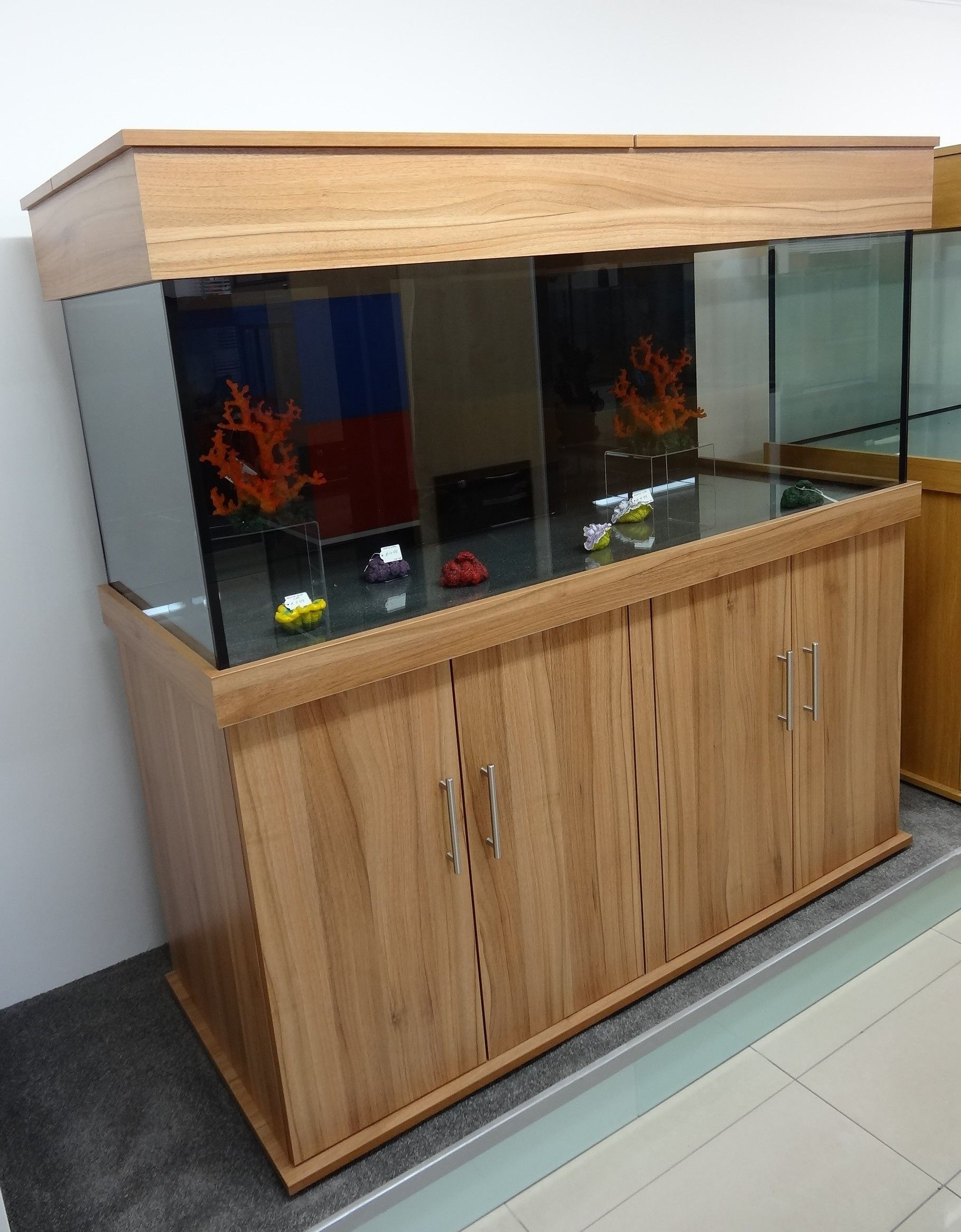 marine fish tank 60 x24 x24 with weir and sump tank 43 x18 x17