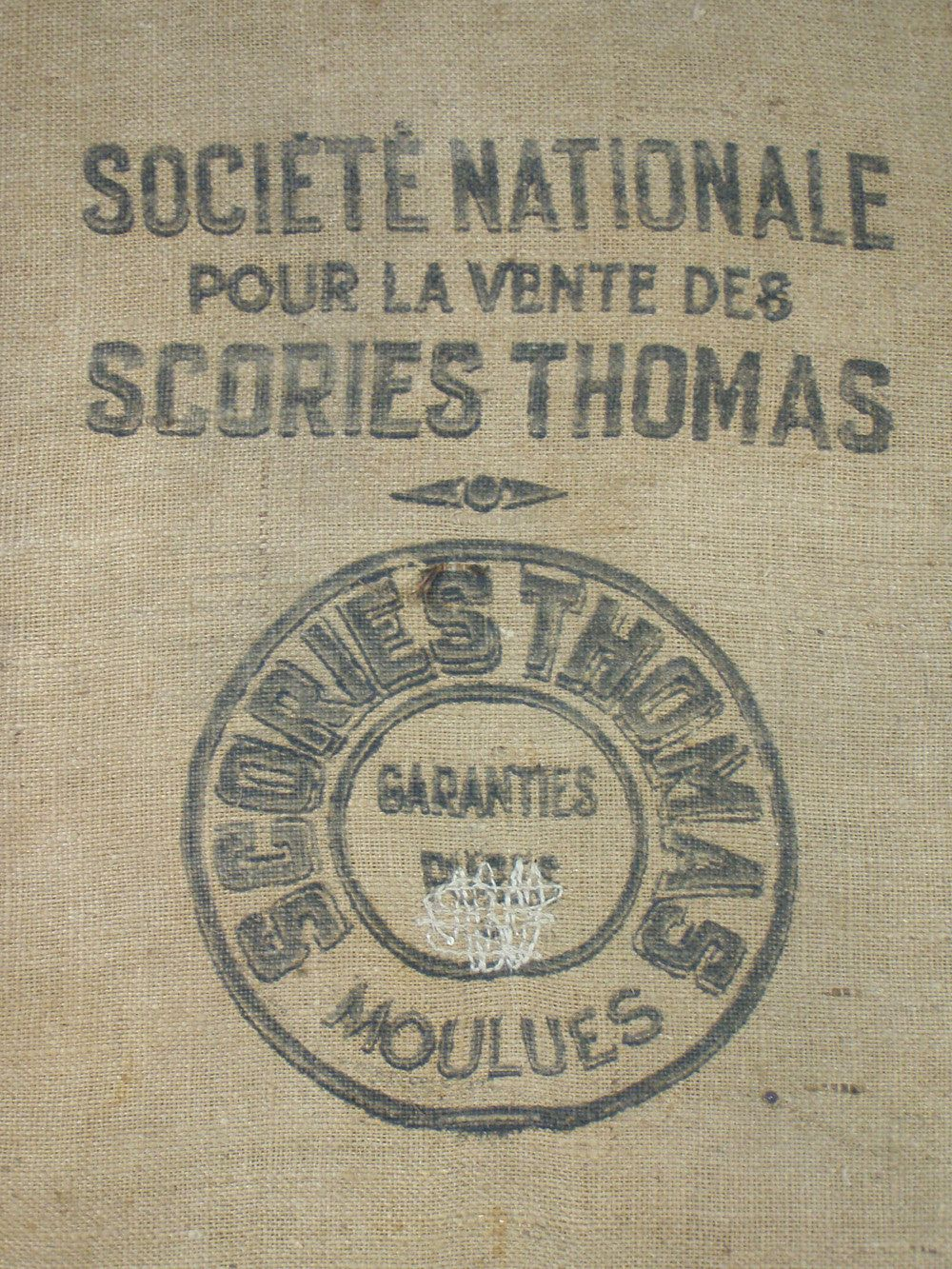 Vintage French MOULES SACK