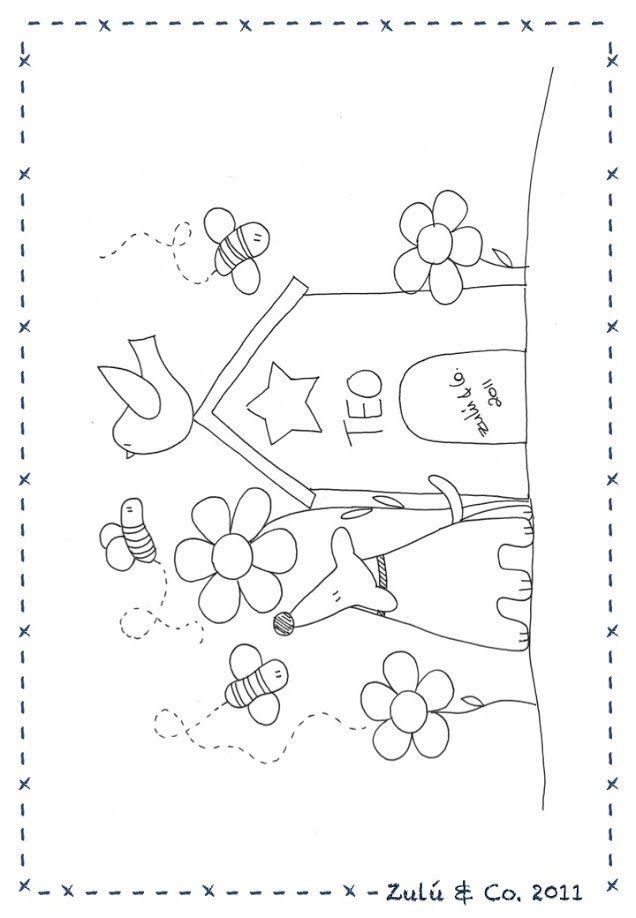 By Zulu and Co   pa mi   Bordado, Patrones, Dibujos para bordar