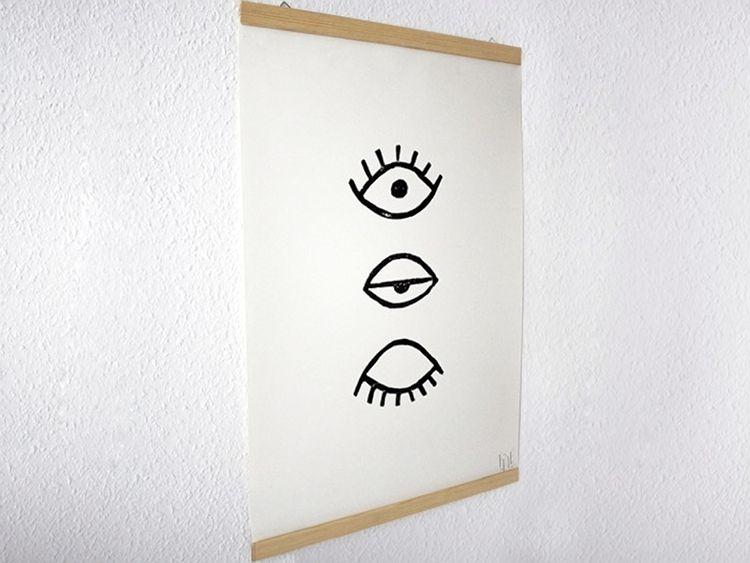 Fabulous DIY-Anleitung: Poster-Leiste selber machen via DaWanda.com | D.I.Y ZN33
