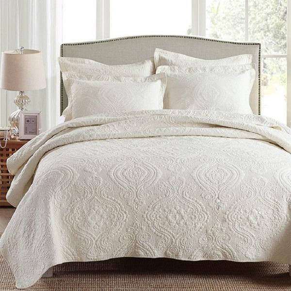 CHAUSUB простое хлопковое стеганое одеяло, набор из 3 ...