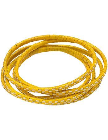 Armband Bangles Palm Yellow van People Tree