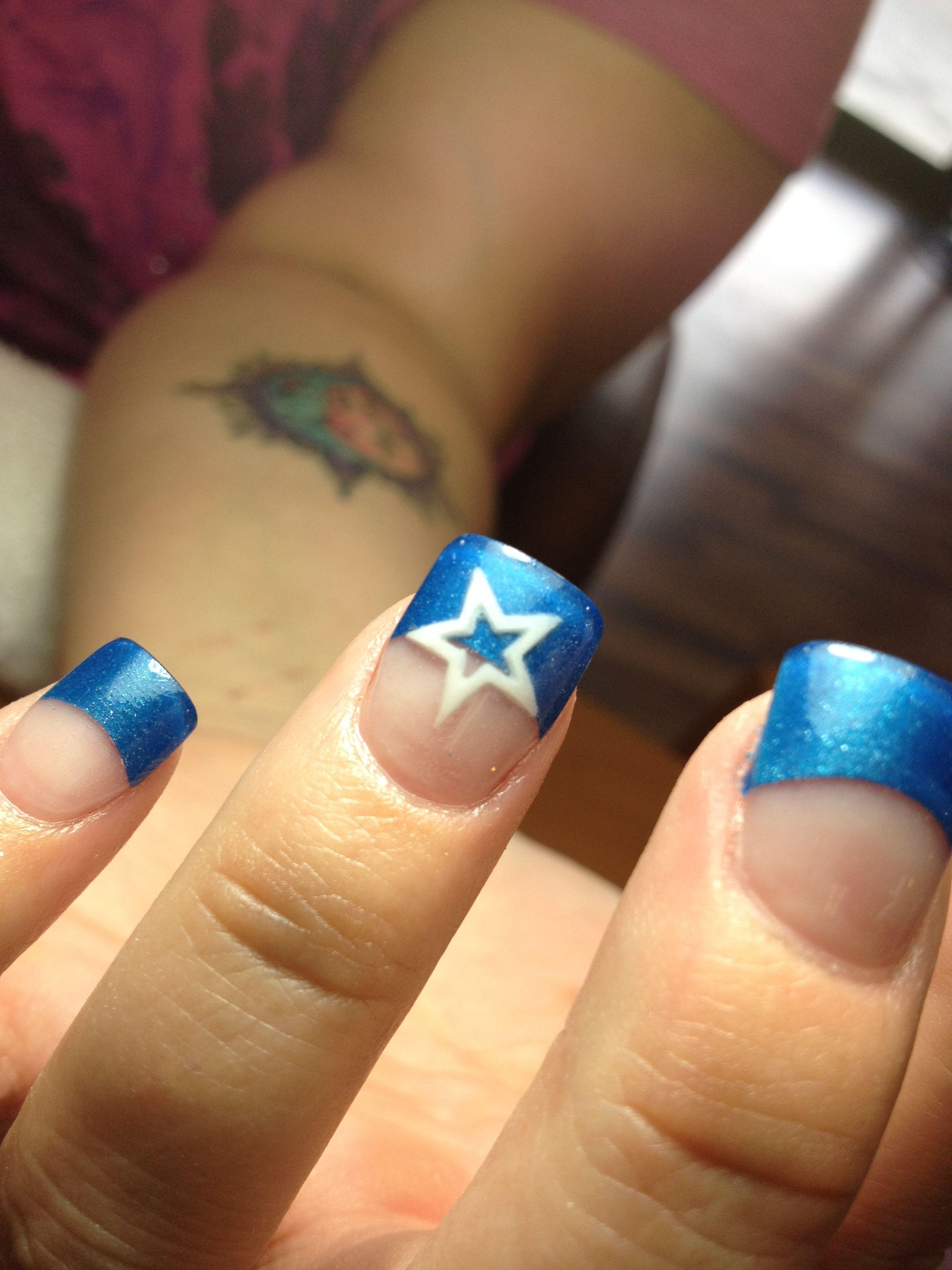 Dallas Cowboy Nails | Mani,Pedi | Pinterest | Dallas cowboys nails ...