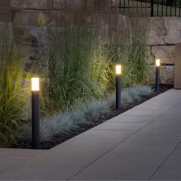 Liv Dark Modern Garden Lighting Outdoor Path Lighting Bollard Lighting