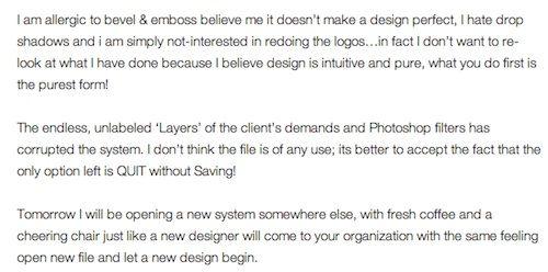 A Graphic DesignerS Resignation Letter  DesigntaxiCom Part