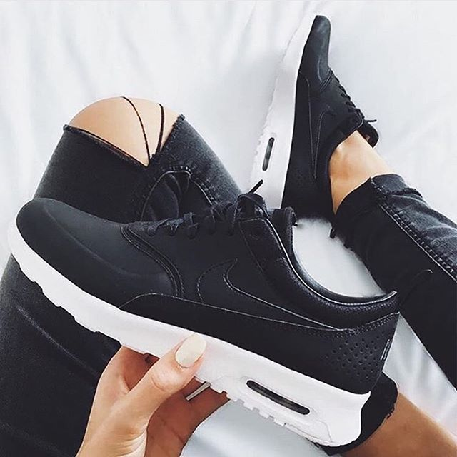 NIKE Women's Shoes - Womens Nike Air Max Thea Prm Brand new with box but no  lid. Premium black leather Nike Shoes Athletic Shoes - Find deals and best  ...
