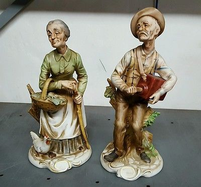 old man and woman figurines
