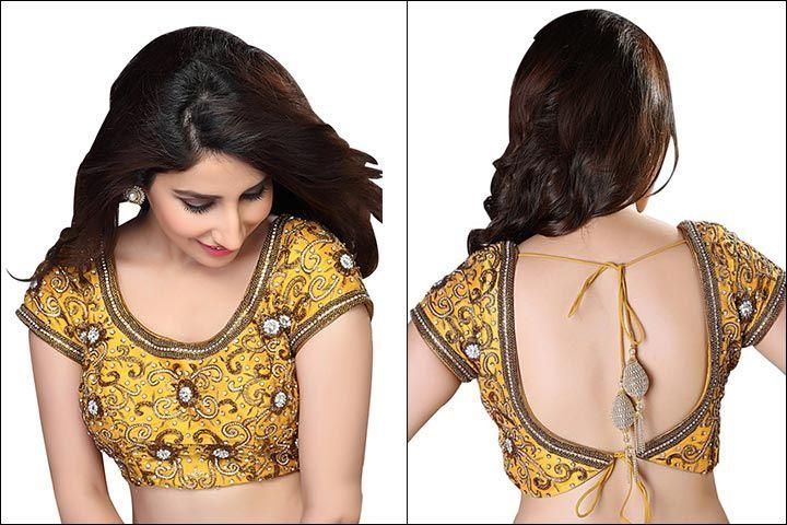 Blouse Back Neck Designs Top 54 Trendy Designs Yellow Blouse
