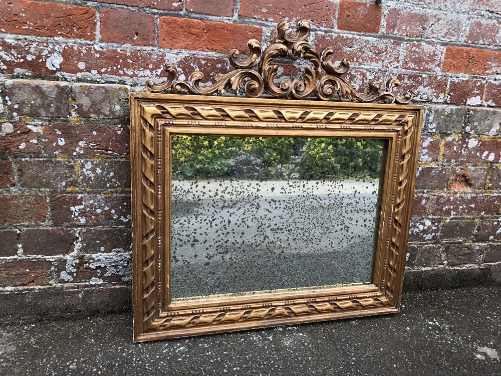 An Exquisite Antique 19th Century French Carved Wood And Gesso Original Distressed Gilt Rope Twist Mirror Antique All Our Antique Mirrors Antique Mirror Wall Large Antique Mirror Mirror