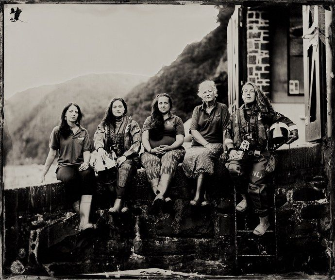 The female crew of Clovelly RNLI | The Lifeboat Station Project by Jack Lowe