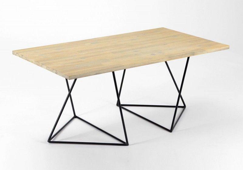 Treteaux 39 Idees Deco Pour Creer Une Table Ou Un Bureau Table A Manger En Bois Table Basse Idee Deco