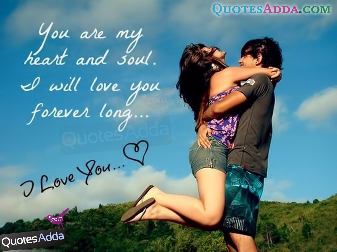 870 Romantic Love Couple Quotes Wallpaper HD