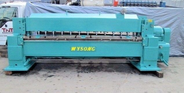 Nice 10 Foot 1 4 Inch Wysong Power Squaring Shear Model 1025 With Rombg 10 Feet Model Shearing