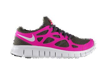 Ladies NIKE FREE RUN +2 Pink glittery Running ShoesTrainers
