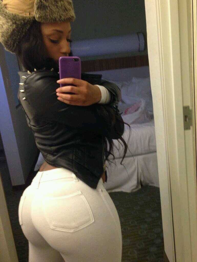 Sexy ass in tight white pants