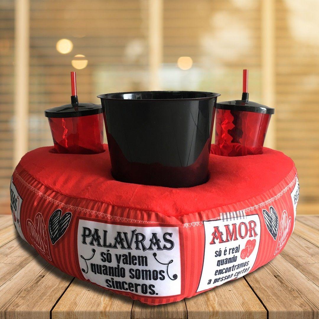 a14a3f112c47a4 Almofada com balde para pipoca e copos para ver filmes e séries ...