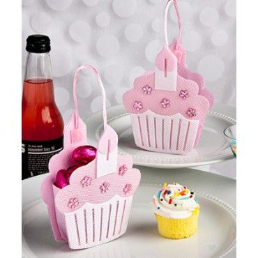 Cupcake Treat Bags - Blue or Pink