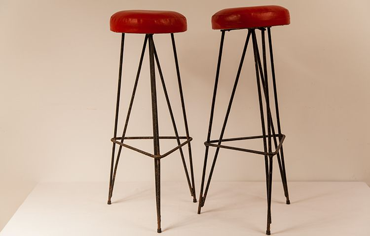 Taburetes rojos vintage - TONY MALONY | Tony´s furniture | Pinterest ...
