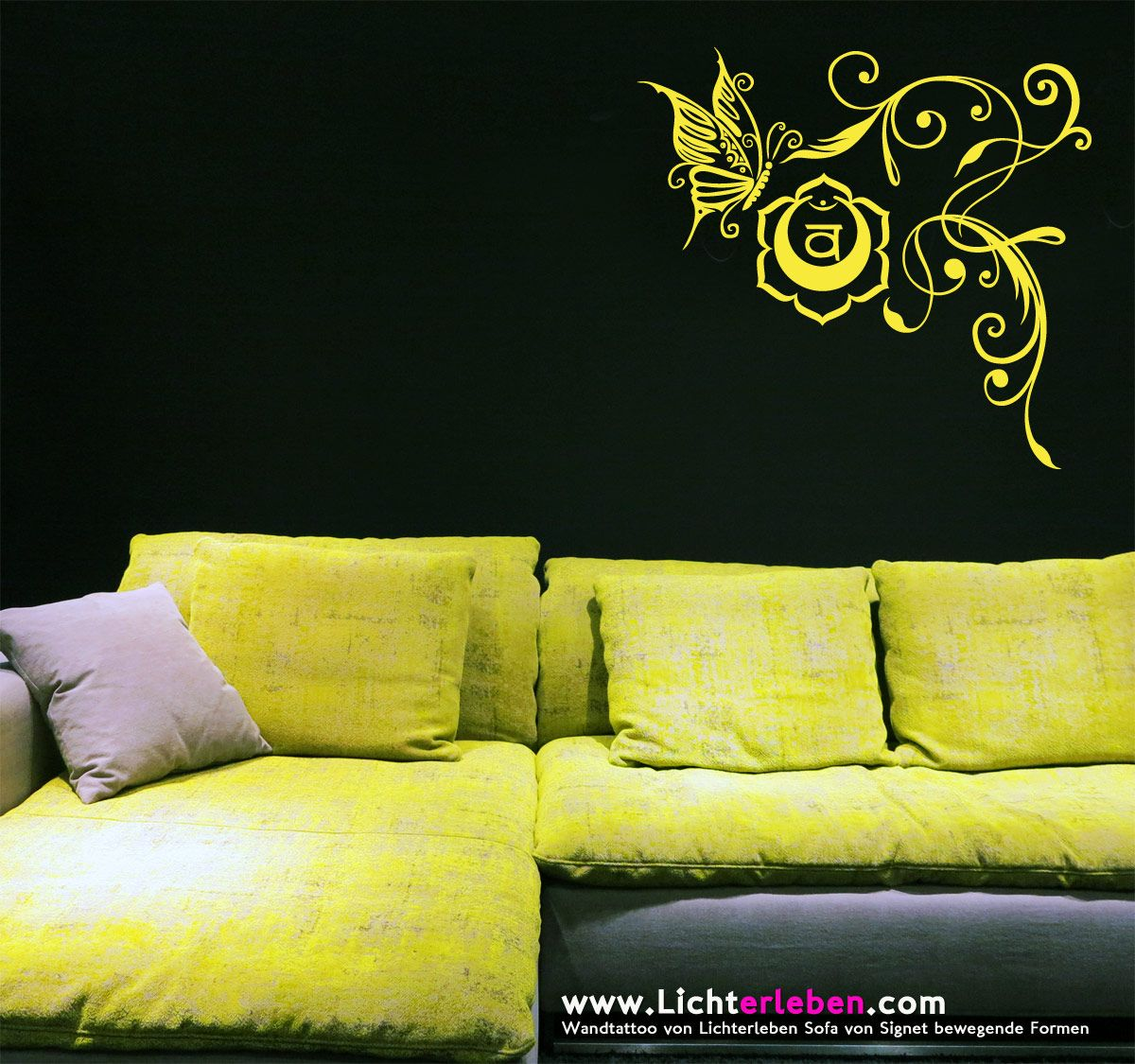 http://www.lichterleben.com/Chakra-Fly-Wandtattoo #chakra Das Chakra ...