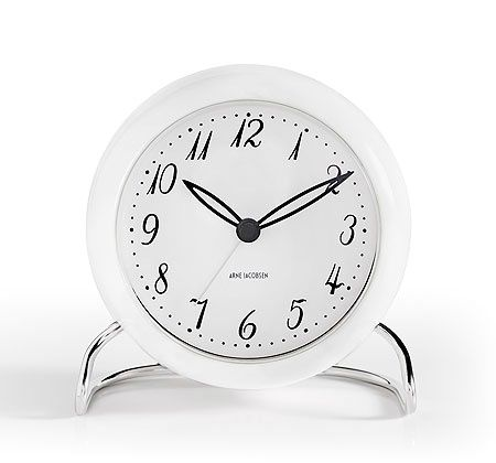 Arne Jacobsen AJ LK Table Clock for Rosendahl Copenhagen  Table clocks are back  After many years of being forgotten, with the Arne Jacobsen relaunch the table clock is making a strong comeback into modern interior furnishings. @llwdesign